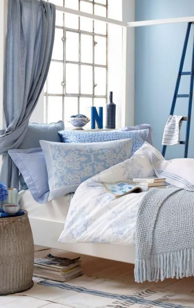 Wohnen mit Farben - Einrichten mit Blau Romantisches Himmelblau - welche farben f rs schlafzimmer