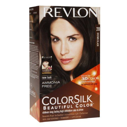 New Revlon Colorsilk Brown Black 20 Used This Product To Cover My