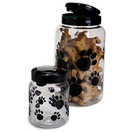 The Container Store Snapware Paw Print Treat Containers Dog
