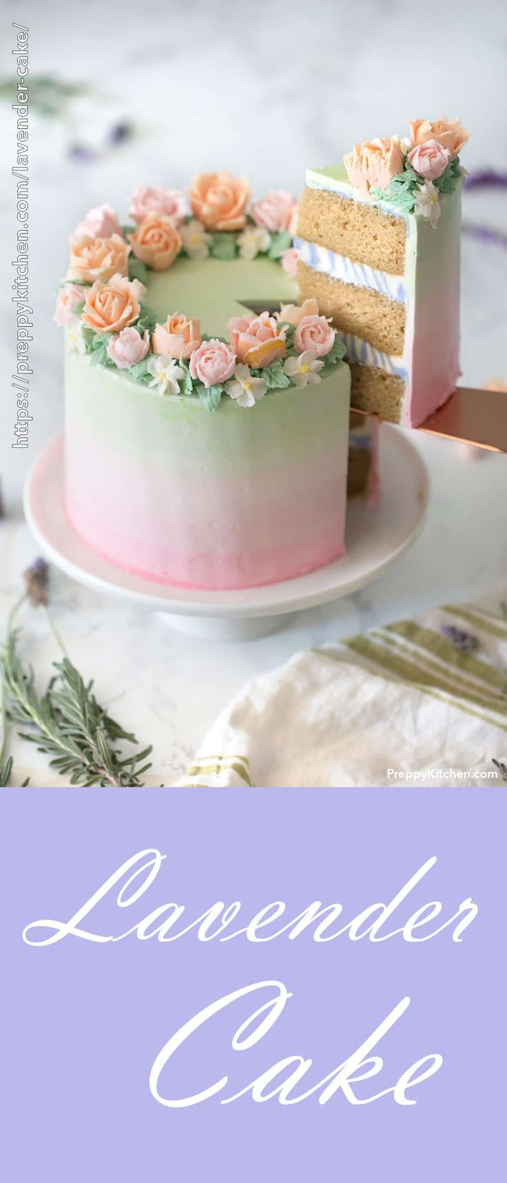 Lavender Cake - Preppy Kitchen