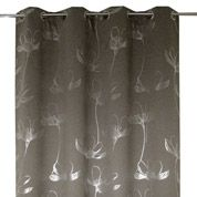 Rideau Occultant Passion Noir L140 X H250 Cm Leroy