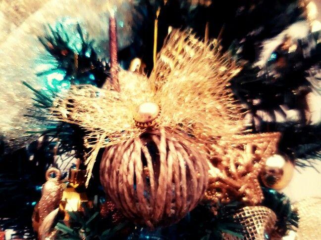 Christmas burlap ornament