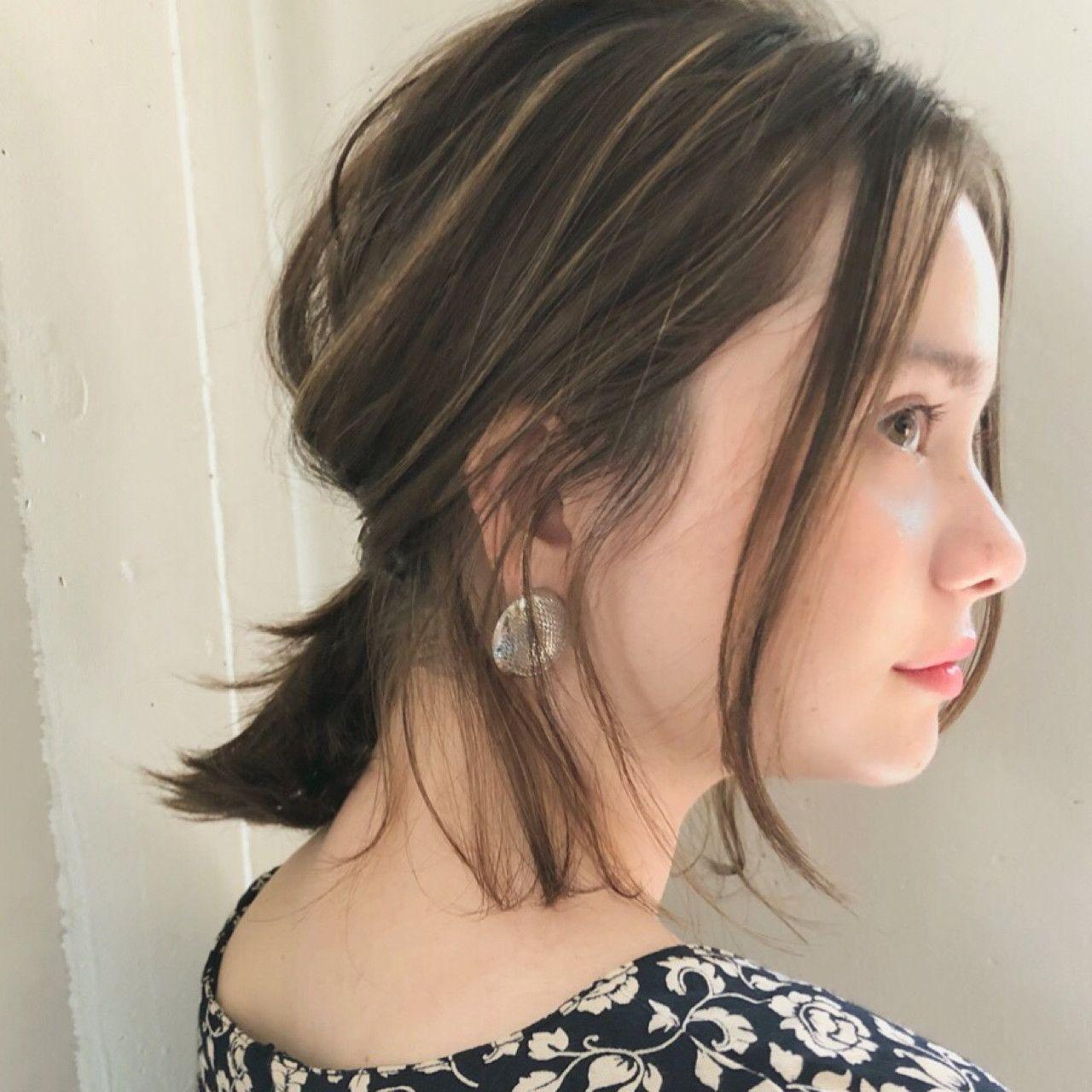 小顔はヘアアレンジで叶う 小顔テクニックヘア15選 Hair ヘアー