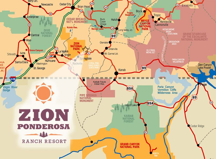 Zion RV park map Travel Pinterest Bryce canyon Park and Road