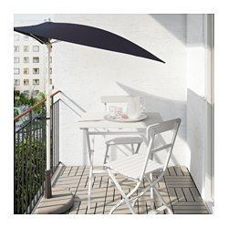 IKEA MÄLARÖ Table, Outdoor White Cm Perfect For Your Balcony Or Other Small  Spaces As It Can Be Folded Up And Put Away.