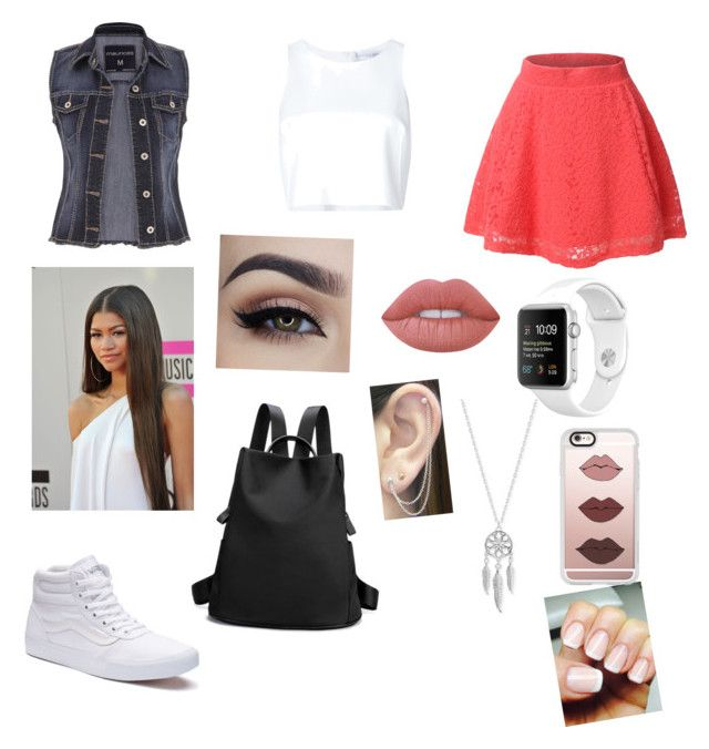 """School"" by theresa-t ❤ liked on Polyvore featuring maurices, Vans, LE3NO, Carolina Herrera, Coleman, Lime Crime, Lucky Brand, Otis Jaxon and Casetify"