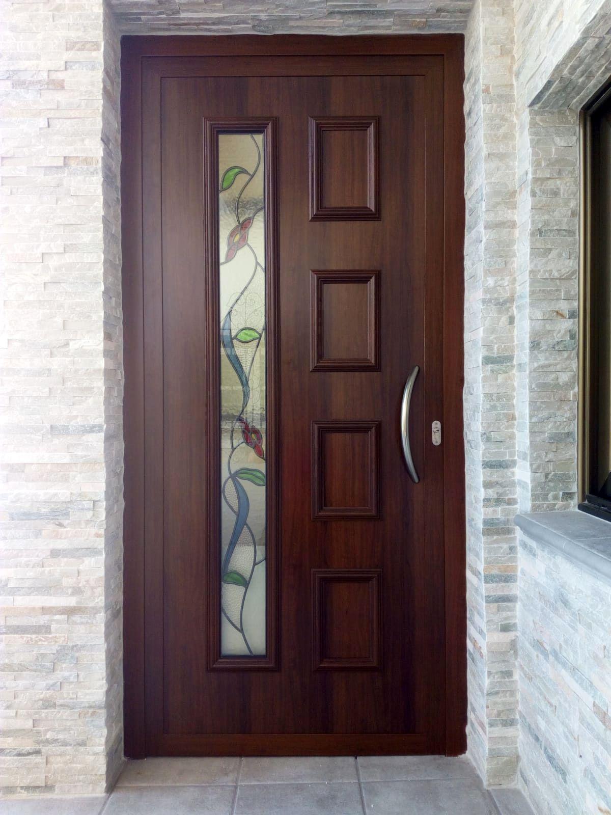 Tempo Lira En Lacado Madera Y Vitral Color Emplomado Instalada En La Provincia D Puertas De Entrada Aluminio Puertas De Aluminio Puertas Principales De Madera