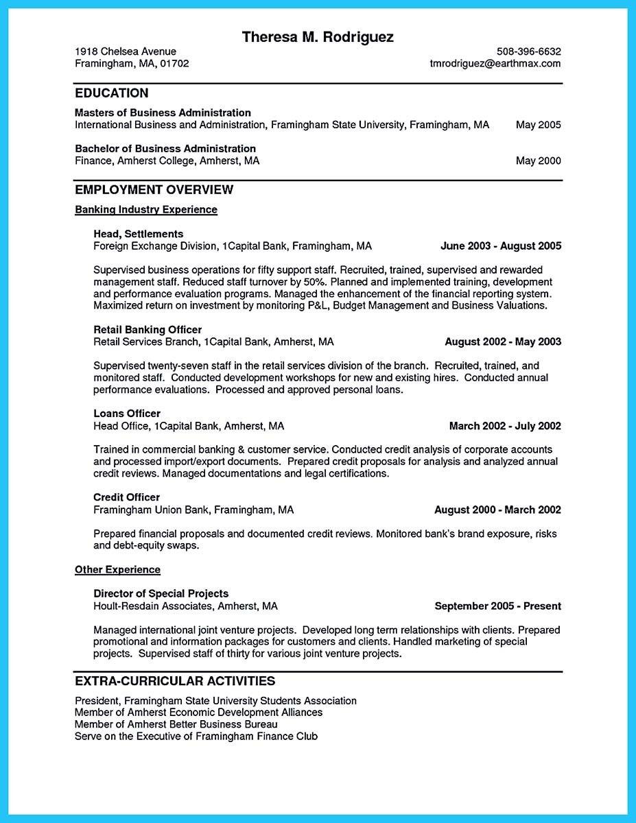 Sample Investment Banking Resume Modern Resume Example