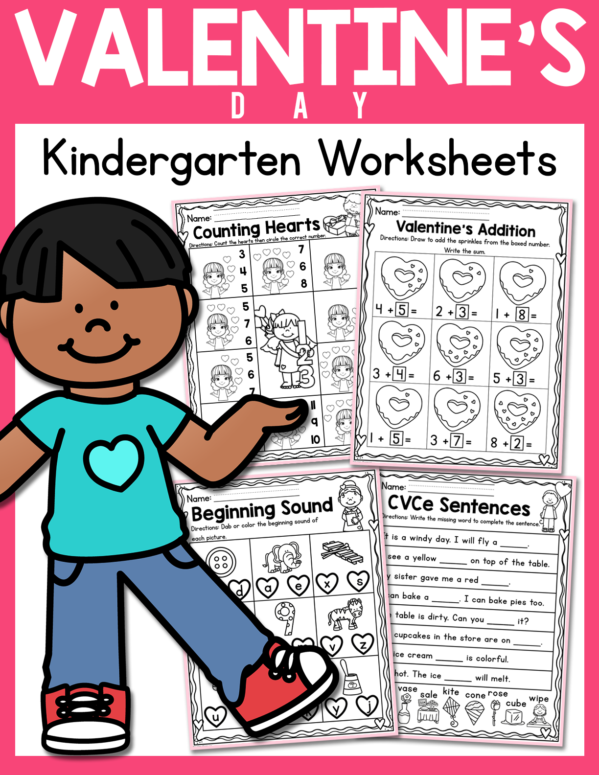 Valentine S Day Kindergarten Worksheets February In