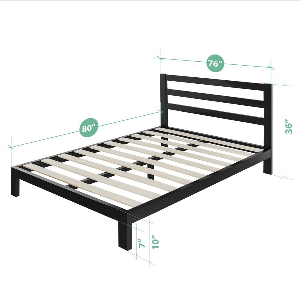 Zinus Arnav Modern Studio 10 Inch Platform 2000h Metal Bed Frame King Hd Asmph 20k Metal Platform Bed Bed Frame Headboards For Beds