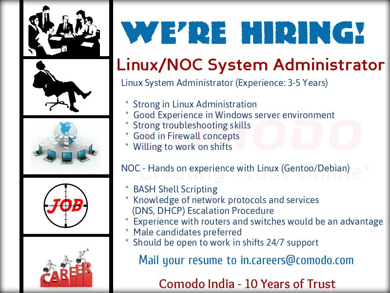 Weu0027re Hiring! Job Title Linux System Administrator (Experience 3 - hiring resume