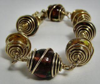 Lampwork Caged Bead Bracelet