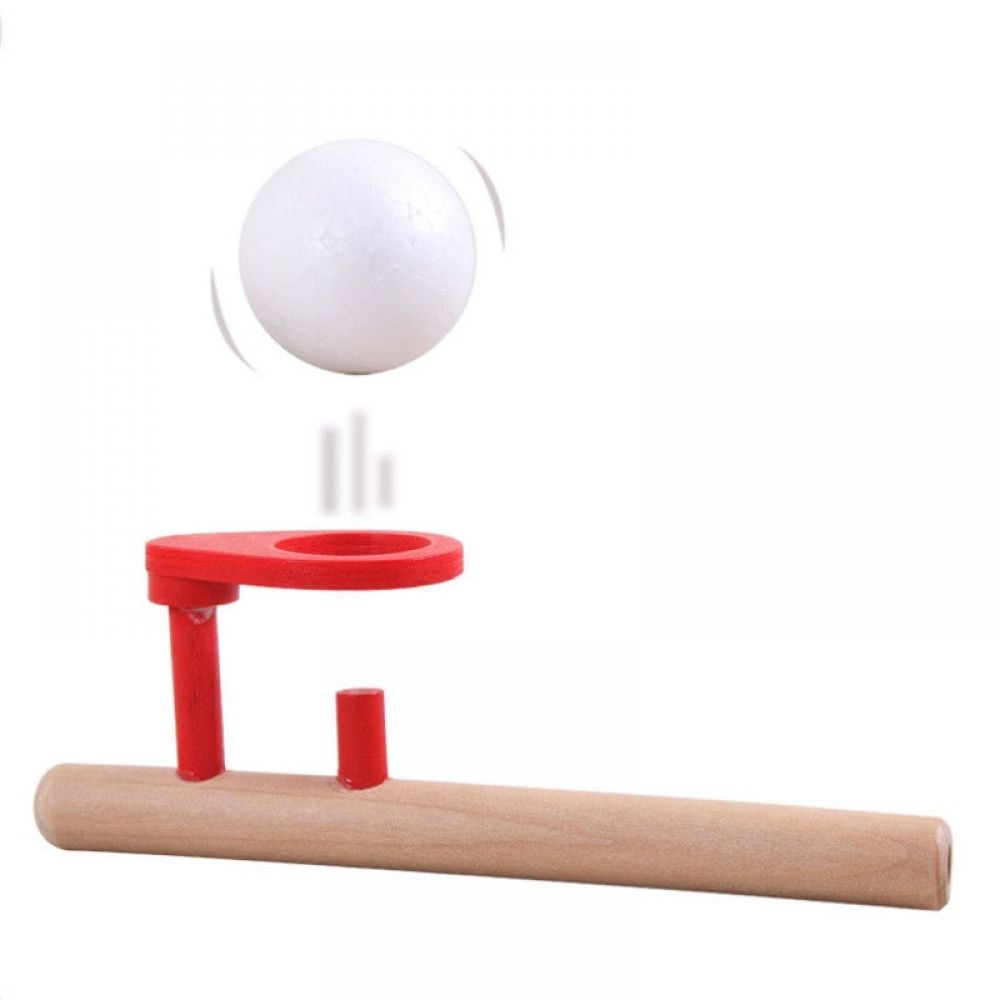 Fun Toys Blowing Balance Floating Wooden Flute Ball Educational Toy For Children