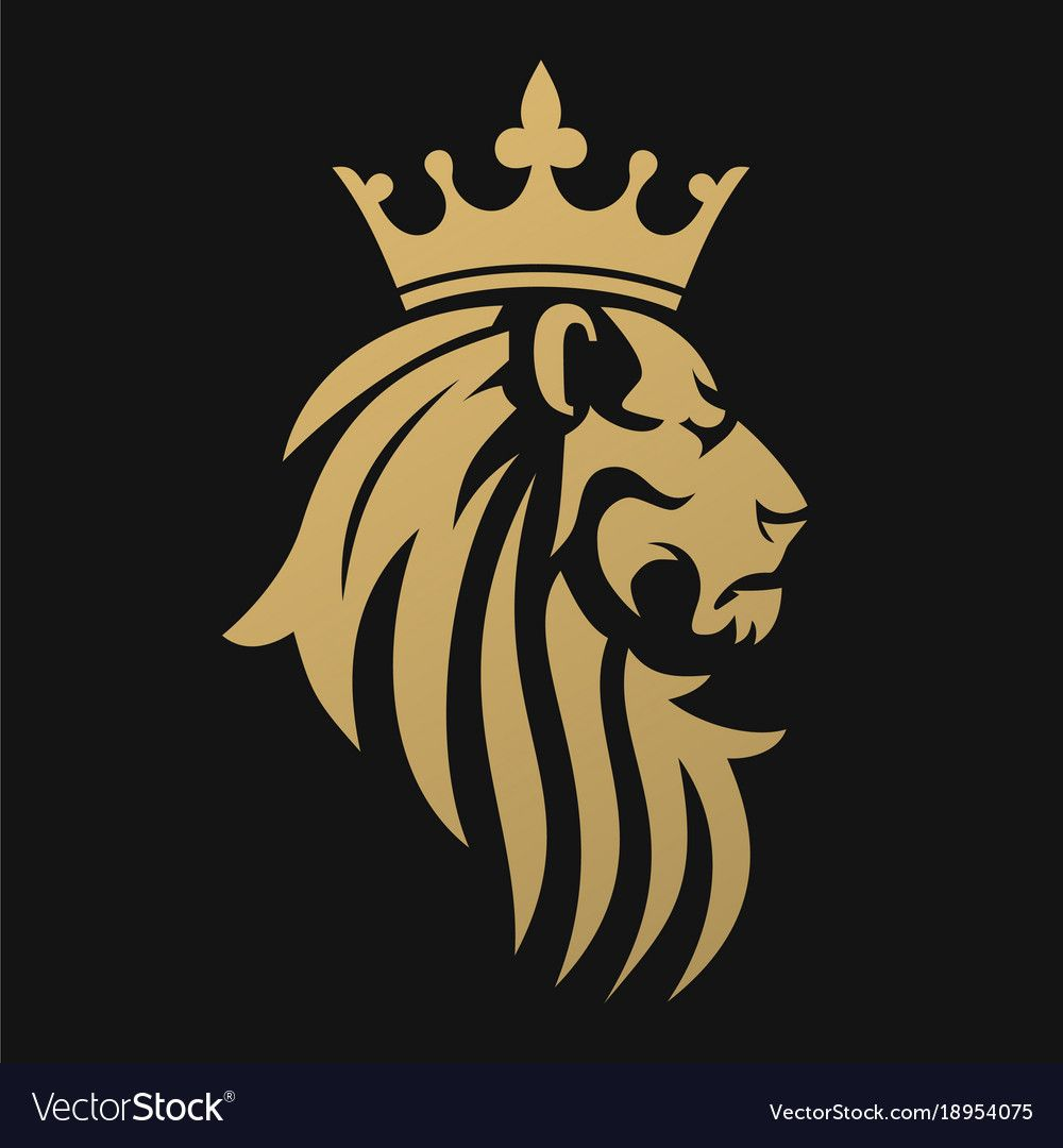 A Golden Lion With A Crown Emblem For A Luxury Brand Or Business Company A Symbol Of Royalty Download A Free Lion Art Crown Tattoo Design Lion Illustration
