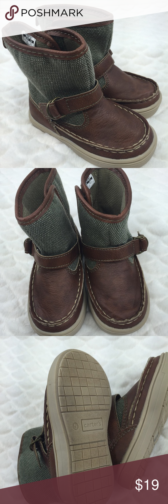 Dressy casual boots Always hard to find cute unique shoes for boys! New without tags never used! Carter's Shoes Boots