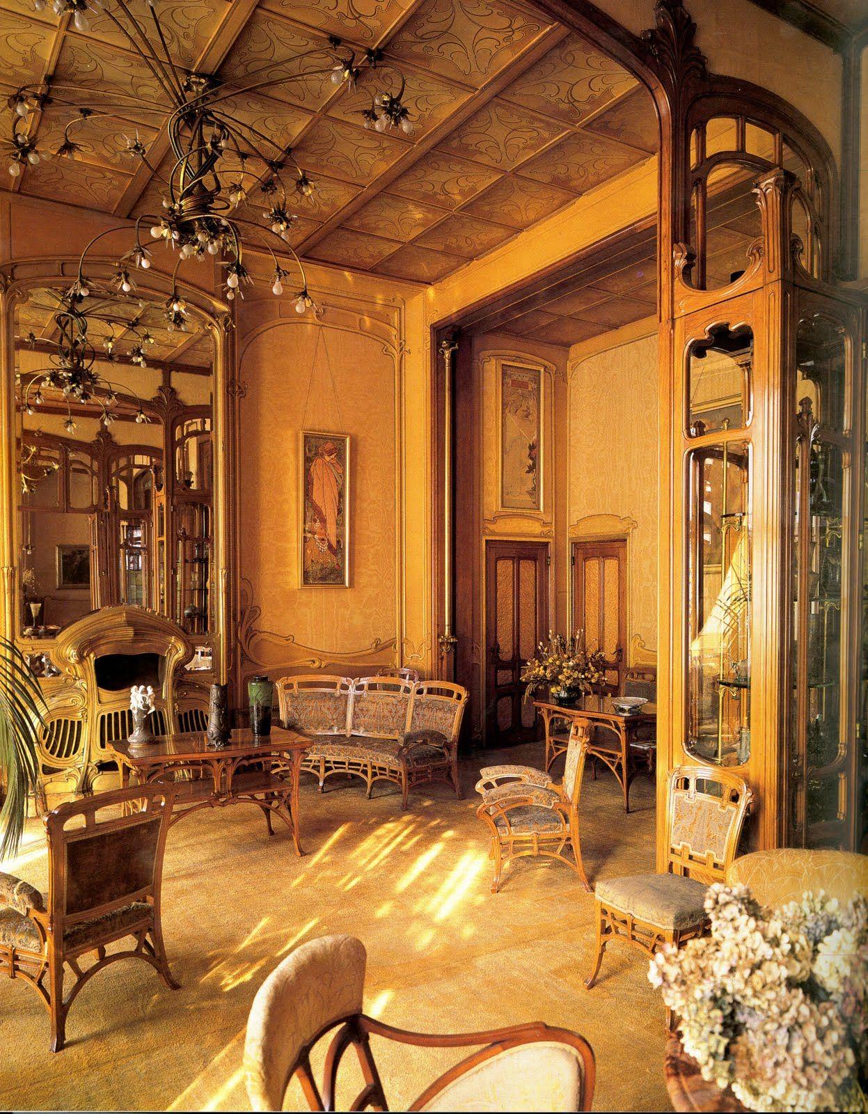 Interior of Htel Solvay by Victor Horta