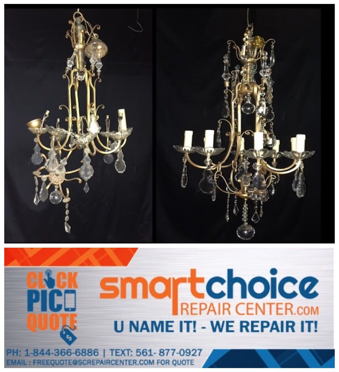 We repair and restore all types of chandeliers from rusting we repair and restore all types of chandeliers from rusting peeling to rewiring arubaitofo Images