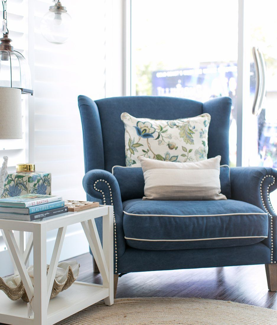 our denim  cream sofa takes centre stage along with the