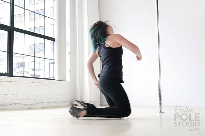 Knee Spin | Shoulder stand, Pole dancing classes, Pole dancing