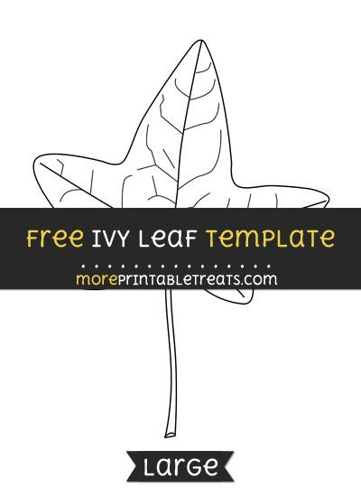 Free Ivy Leaf Template - Large | Shapes and Templates Printables ...