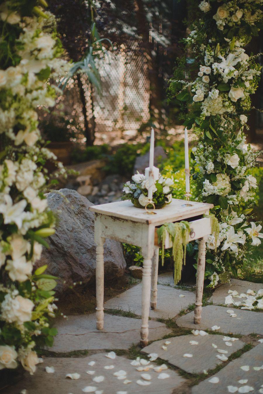 Garden Ranch Malibu Wedding Twilight wedding scene