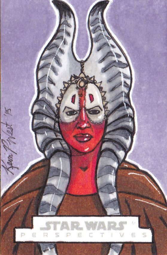 Original Star Wars Sketch Card done for the Chrome Perspectives: Jedi Vs. Sith set for Topps/Lucasfilms/Disney