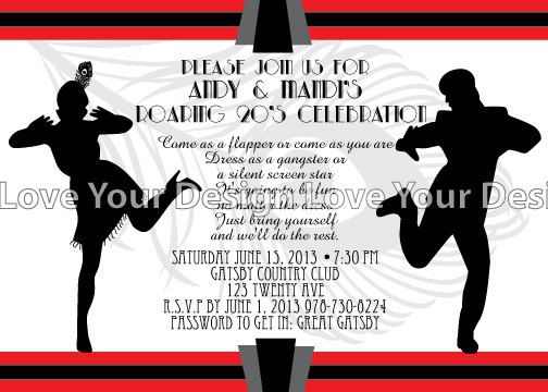 1920s great gatsby couple invitation will be perfect for your 1920s great gatsby couple invitation will be perfect for your roaring 1920s birthday party or anniversary filmwisefo