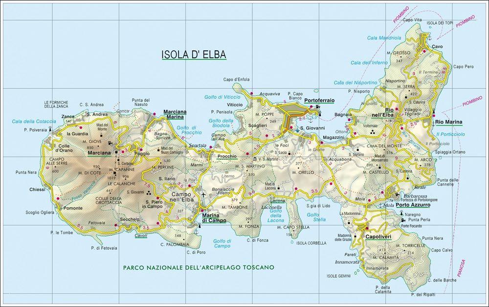 Isola d\'Elba | Isola d\'Elba | Elba island, Elba, Map
