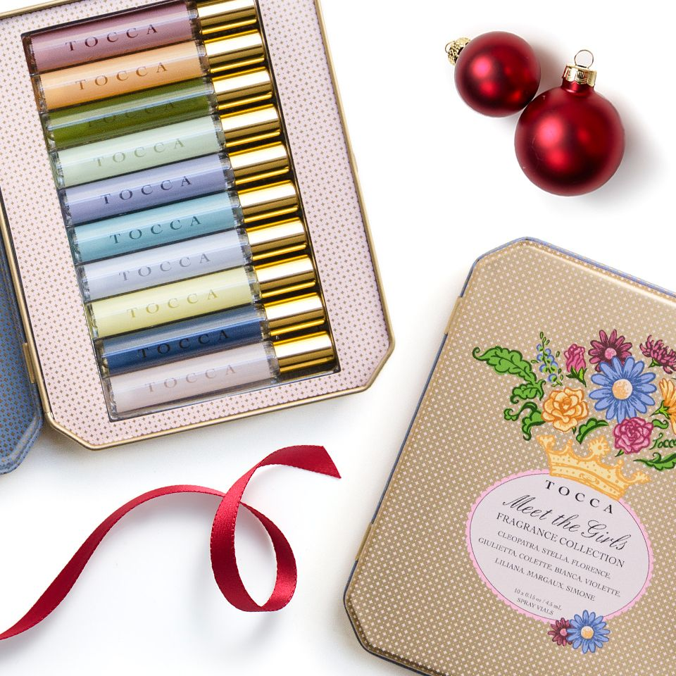 The perfect gift for a lucky lady in your life: a set of TOCCA scents in a beautiful tin. #Fragrance #gifting #beauty