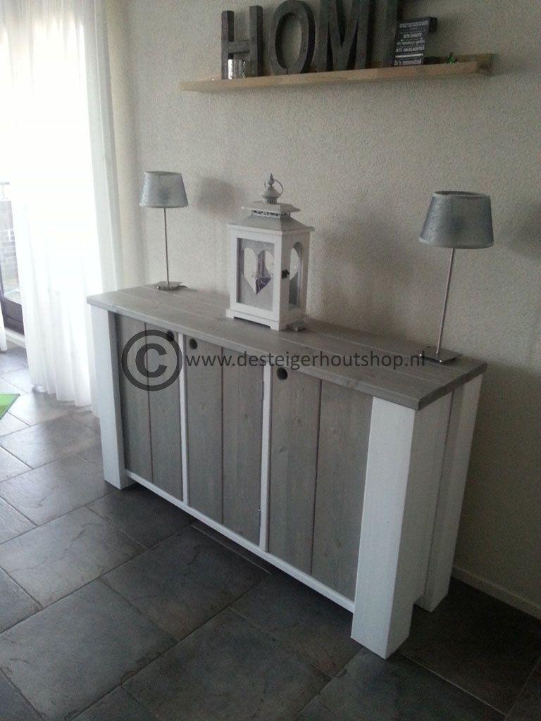 Steigerhout dressoir, model Rosalie    Steigerhout interieur   Pinterest   Dressoir, Model en