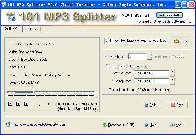 Introduction: 101 MP3 Splitter is a software helps you split