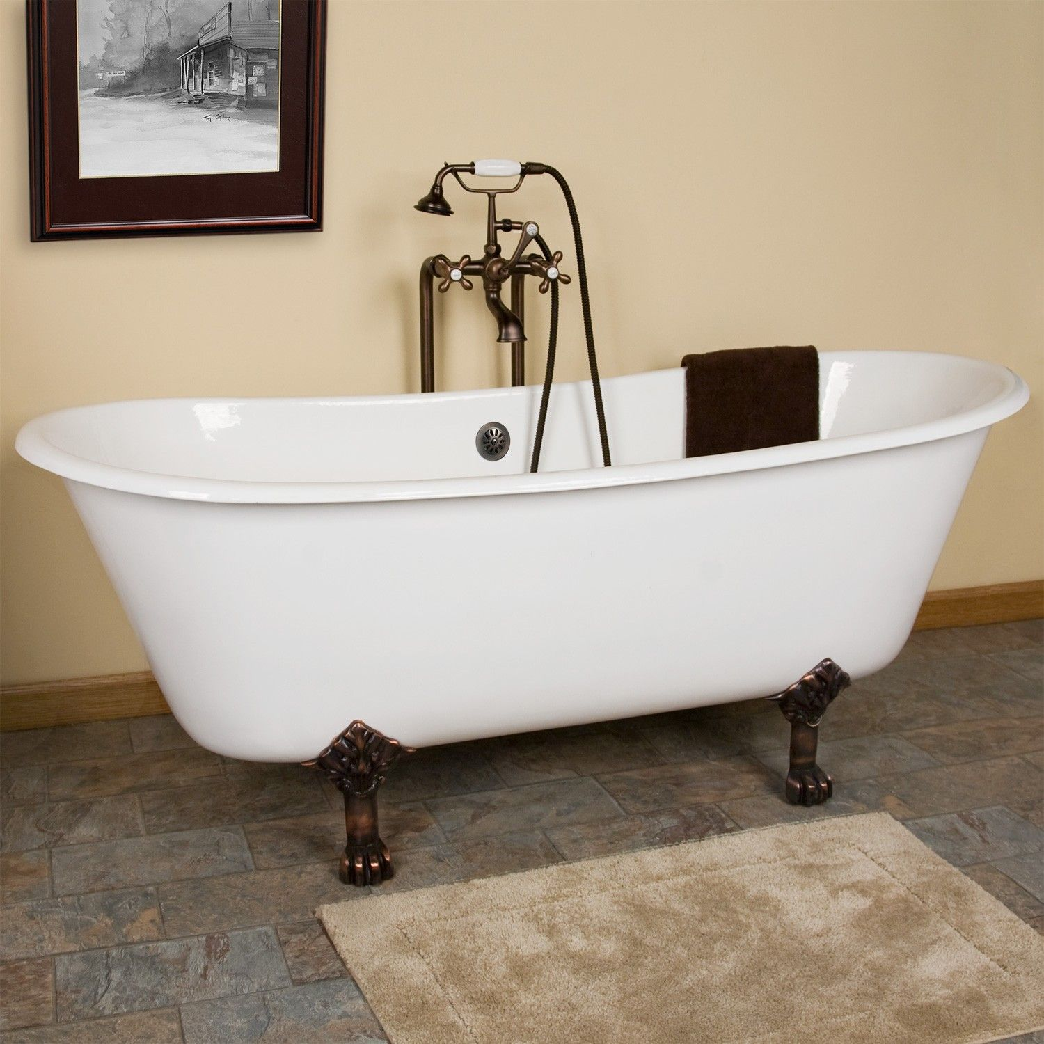 68 Ethan Cast Iron Clawfoot Tub Lion Paw Feet Bathtub