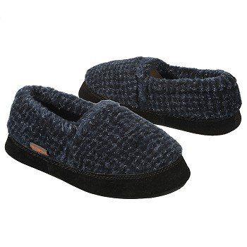 ACORN Textured Moc Tod/Pre/Grd Shoes (Blue Check) - Kids' Shoes - 23.5 OT