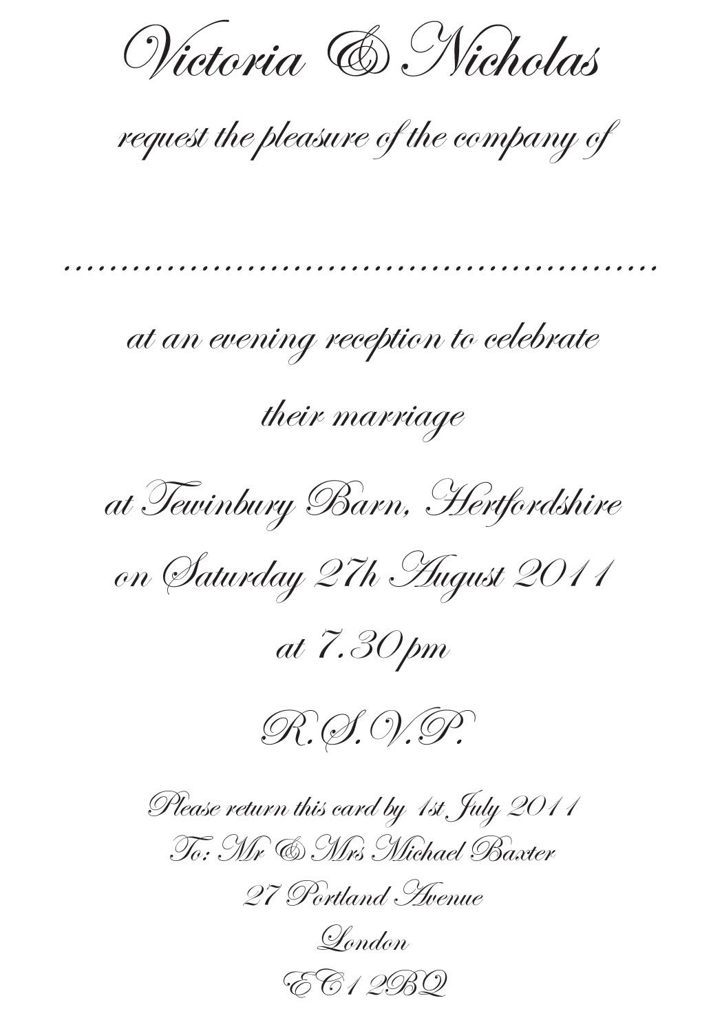 how to make traditional wedding invitation wording free with