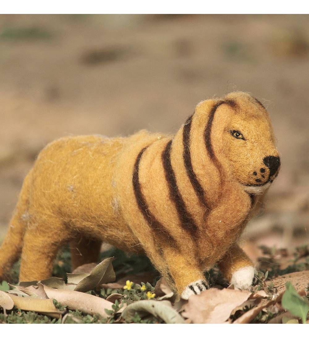 Buy Handmade Vintage Felt Lion Soft plush Toy For Kids ...