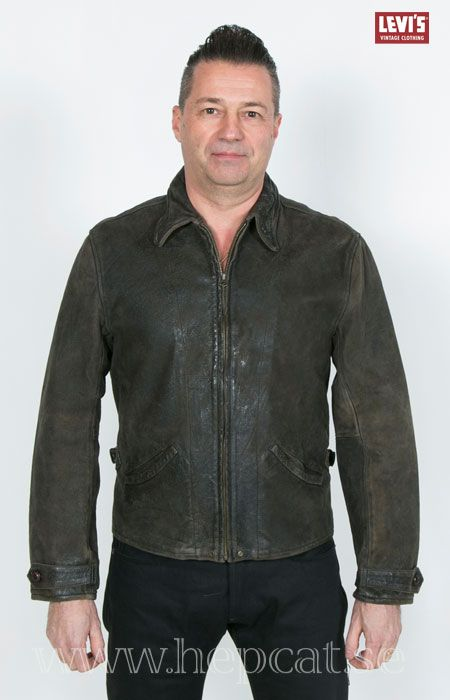 12da66603cbd Levi's Vintage Clothing - 1930's MENLO LEATHER JACKET Archival reproduction  from the 1930's, featuring the