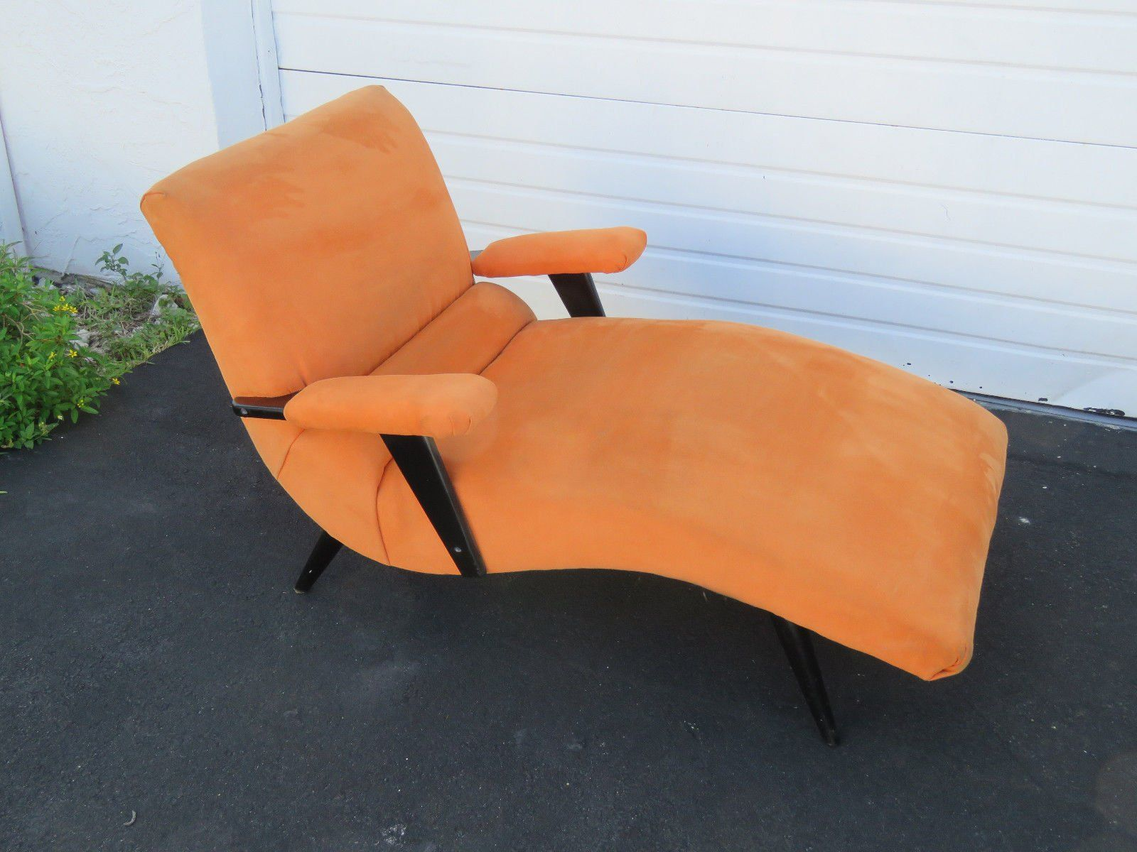 Adrian Pearsall Style Wave Chaise Lounge Mid Century Modern Retro