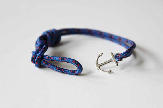 Knots N Anchor Bracelet - Blue