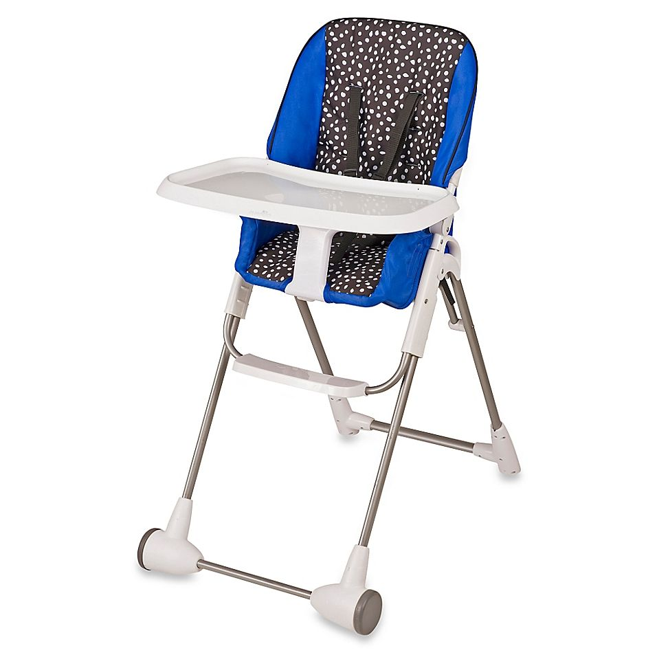 Evenflo Symmetry Hayden Dot High Chair In Blue Black Chair Diy Chair Seat Pads