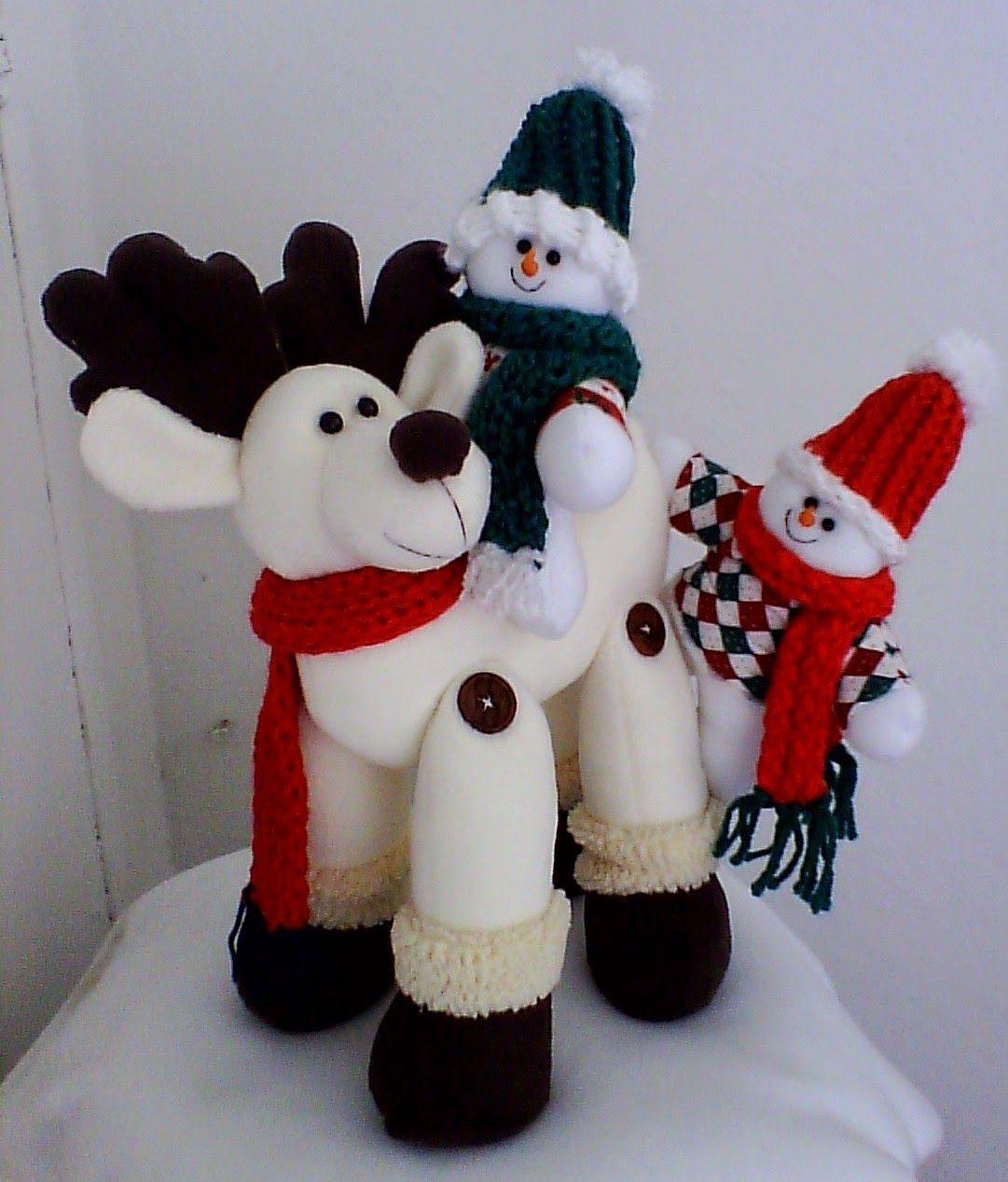 Muñecos navideños: Patrones de Muñecos Navideños | reno | Pinterest ...