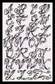Tattoo Font Letters