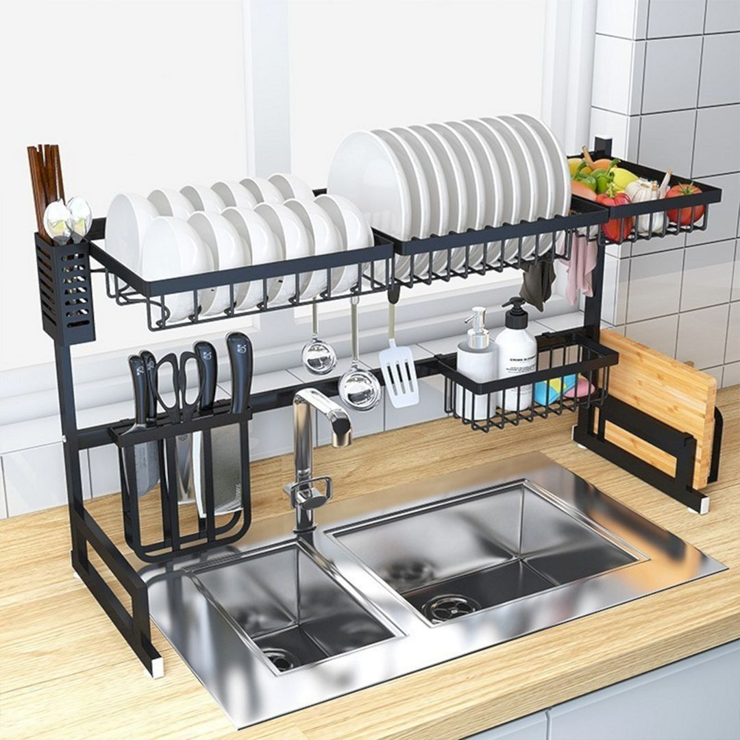 20 Incredible Kitchen Sink Drain Rack Ideas To Create A Good Kitchen Organization Kitchen Sink Rack Kitchen Organization Diy Kitchen Rack