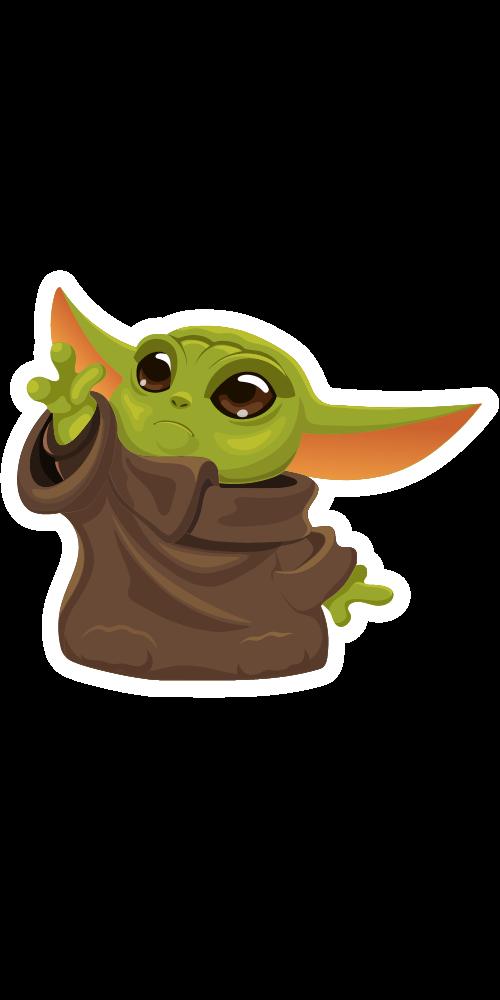 Baby Yoda Trying To Reach Stuff Star Wars Baby Yoda Sticker Cute Animal Drawings Kawaii