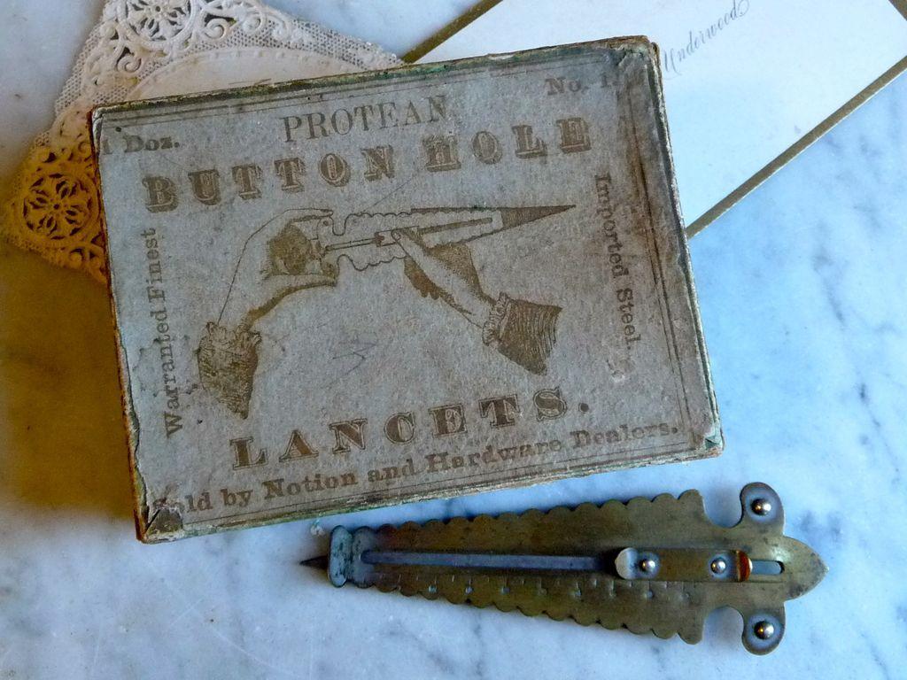 Antique Buttonhole Lancet w/ Original Box