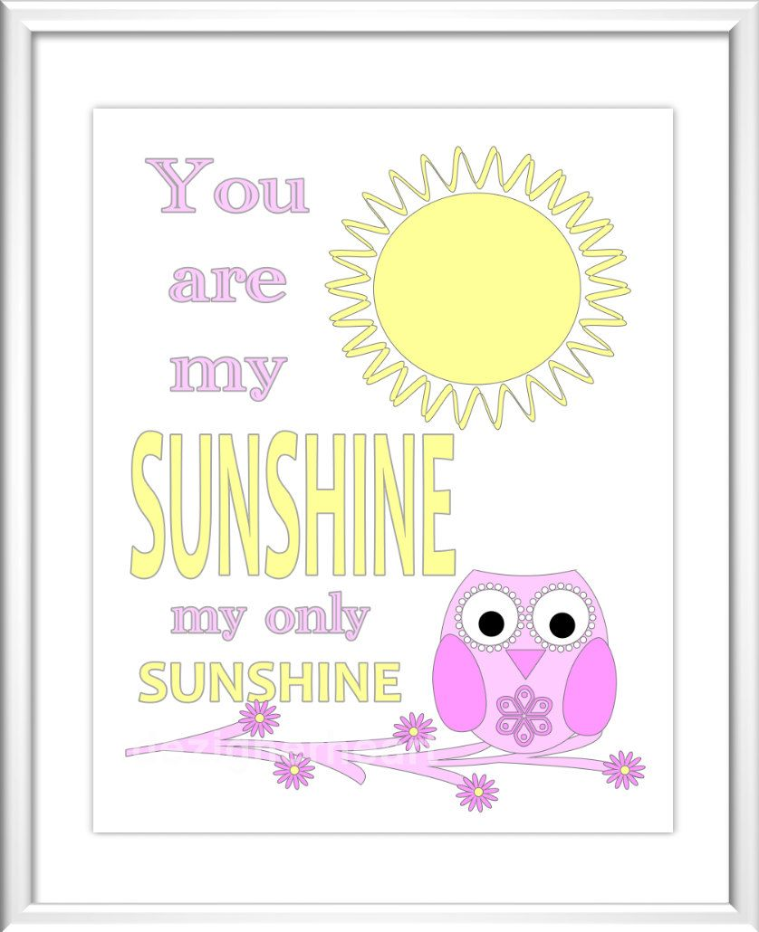 Baby Nursery Wall Art - Digital Art - You Are My Sunshine | For our ...