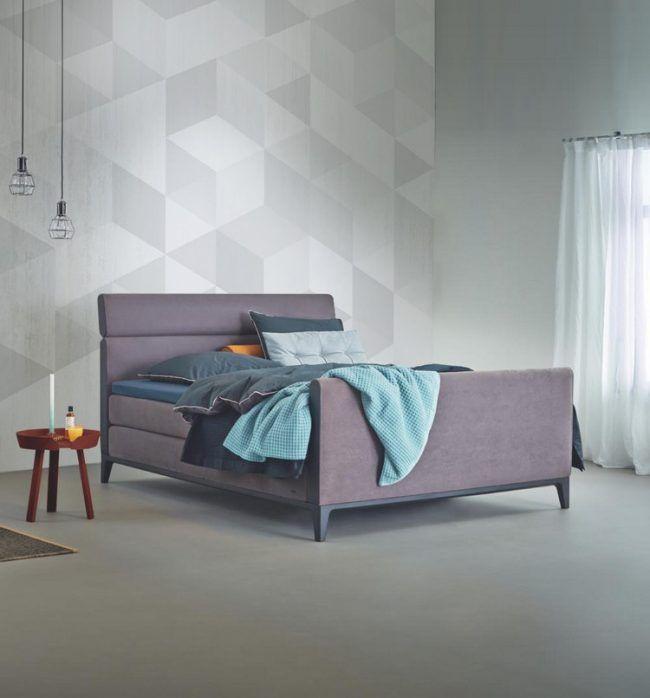 wand-streichen-muster-ideen-schlafzimmer-dreiecke-grautoene - ideen fr schlafzimmer streichen