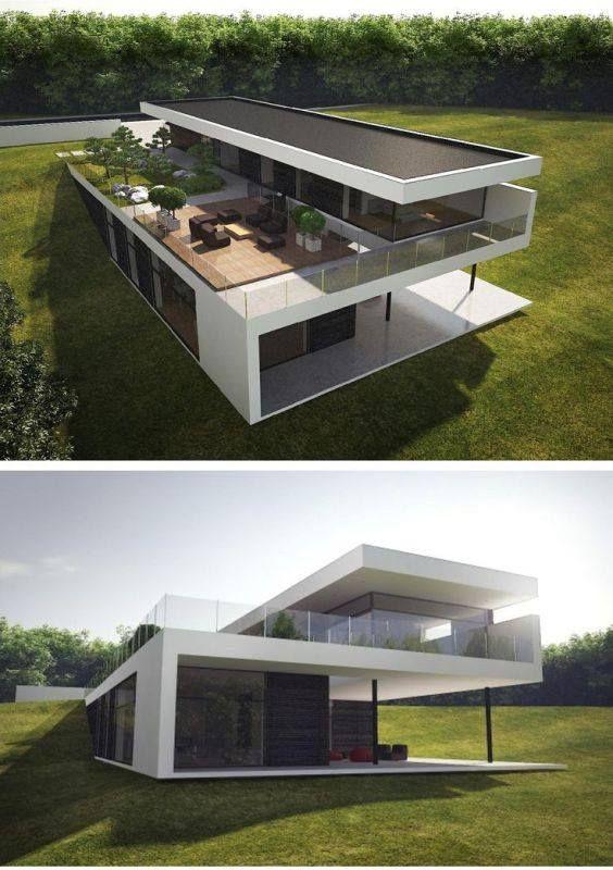 Pin de caf arquitectura en modulos casas fachadas casas for Casas prefabricadas hormigon modernas
