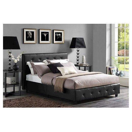 Dalia Faux Leather Upholstered Bed Room Joy Modern Bedroom Furniture Leather Upholstered Bed Bedroom Furniture For Sale