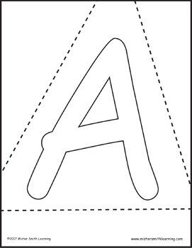 Letter Recognition Flashcards *PDF File* plus 26 coloring and 26 ...
