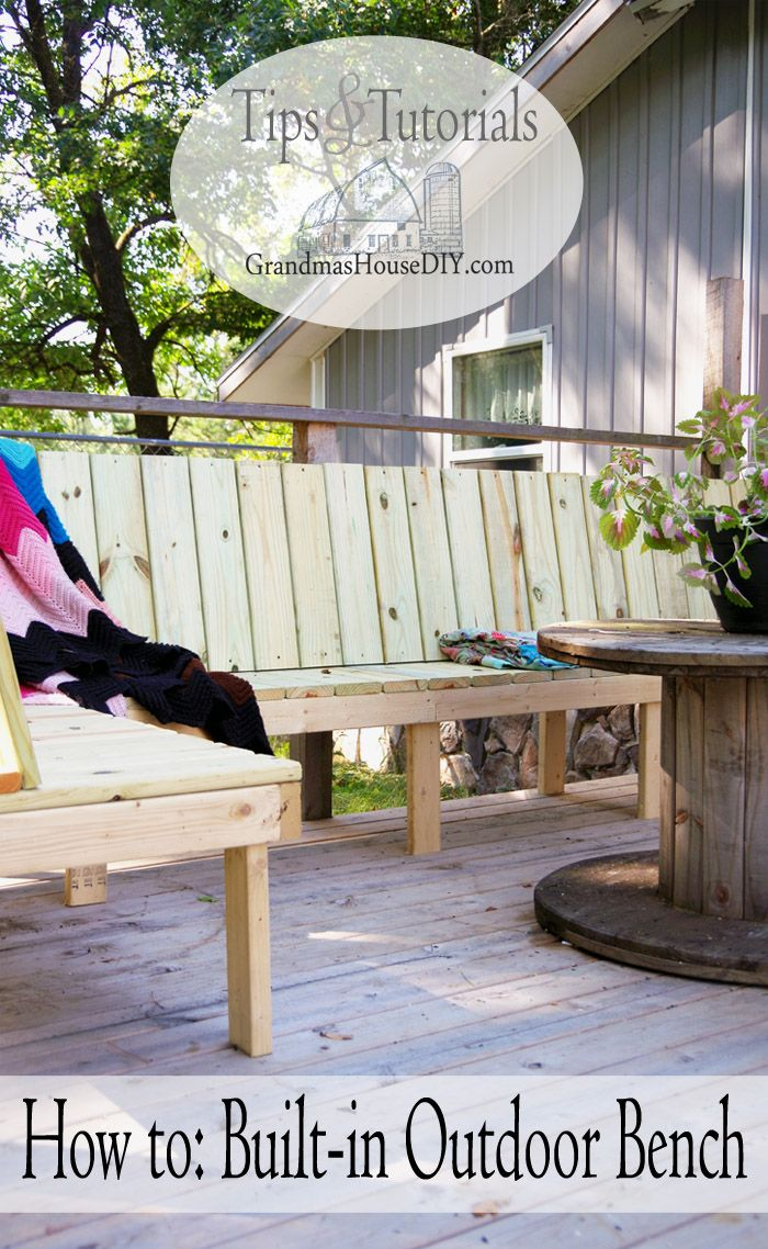 Outdoor bench for our deck diy wood working project tutorial outdoor bench for our deck diy wood working project tutorial door bench bench plans and wood working solutioingenieria Images